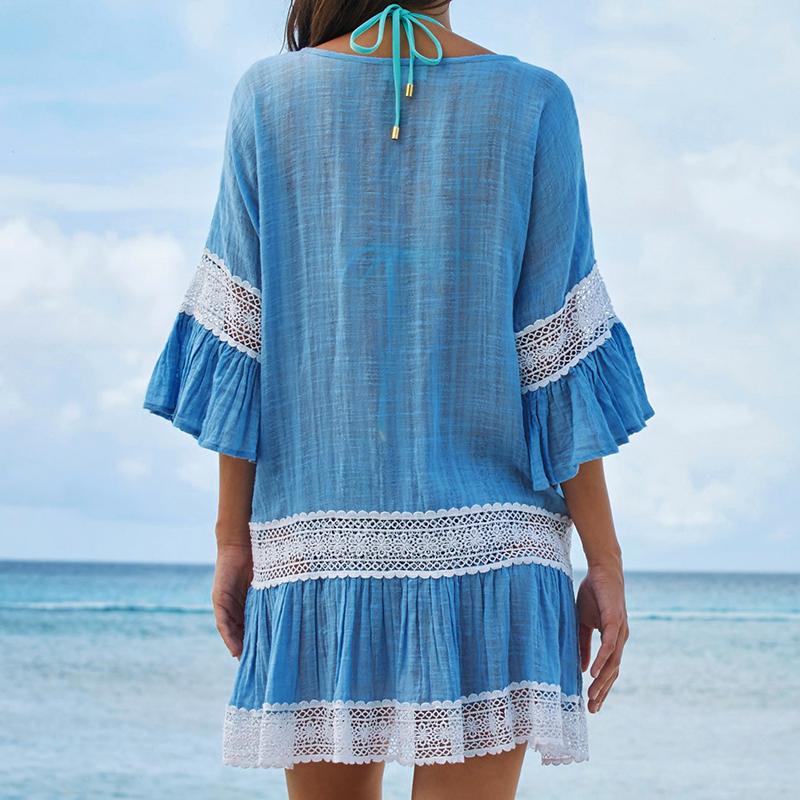 20644807fe47 HTB16h7ac0LO8KJjSZPcq6yV0FXat.jpg. Plážové šaty tunika s háčkovanými vzory  ...