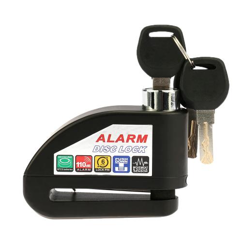 Zámek proti krádeži s alarmem na kotoučové brzdy vhodné pro motorky, kola, skútry, atd...