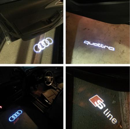 2ks LED svítidla pro automobily Audi s logem Quattro
