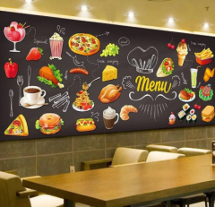 3D Tapeta Restaurant Menu